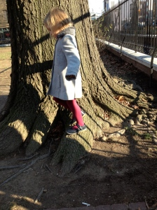 Estelle by tree